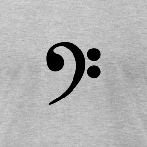Bass Clef Music Note - Men's T-Shirt by American Apparel