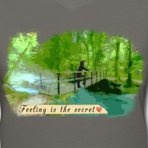 Scenic Bridge T-Shirts - Women's V-Neck T-Shirt