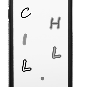 CHILL. Phone Case White/Black - iPhone 6/6s Rubber Case