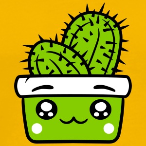 face baby comic cartoon cactus cactus flower pot c T-Shirts - Men's Premium T-Shirt