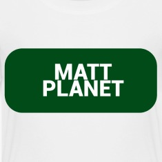 Matt Planet Kid's Premium T-Shirt - White