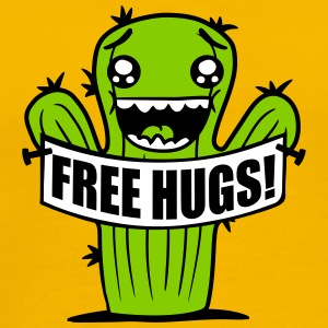 free hugs hugs hugz goad free comic cartoon face s T-Shirts - Men's Premium T-Shirt