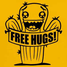 free hugs hugs hugz goad free comic cartoon face s T-Shirts