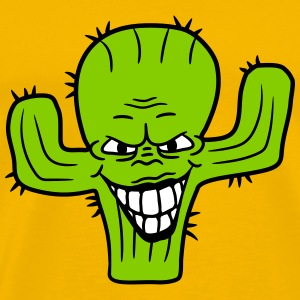 evil vile monster horror halloween demon cactus ca T-Shirts - Men's Premium T-Shirt