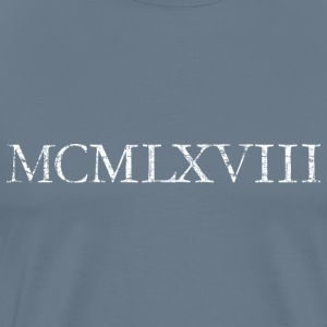 MCMLXVIII 1968 Roman Birthday Year T-Shirts - Men's Premium T-Shirt