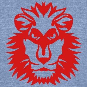 lion wild animal in 1102 T-Shirts - Unisex Tri-Blend T-Shirt by American Apparel