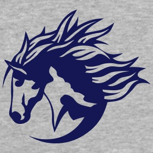 horse riding club logo sports horses T-Shirts - Fitted Cotton/Poly T-Shirt by Next Level