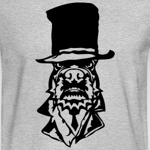 bulldog hat suit necktie 2 Long Sleeve Shirts - Men's Long Sleeve T-Shirt