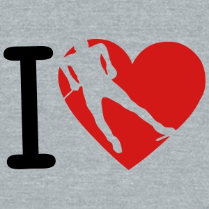 love heart background combines nordic sk T-Shirts - Unisex Tri-Blend T-Shirt by American Apparel