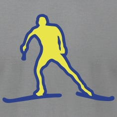 nordic combined ski cross plotted drawin T-Shirts