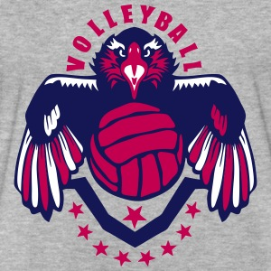 volleyball eagle wing logo flag usa T-Shirts - Fitted Cotton/Poly T-Shirt by Next Level