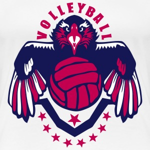 volleyball eagle wing logo flag usa Women's T-Shirts - Women's Premium T-Shirt