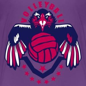 volleyball eagle wing logo flag usa Kids' Shirts - Kids' Premium T-Shirt
