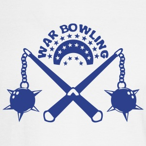 bowling scourge medieval weapon logo Long Sleeve Shirts - Men's Long Sleeve T-Shirt