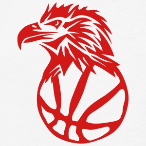 logo eagle club head basketball T-Shirts - Fitted Cotton/Poly T-Shirt by Next Level