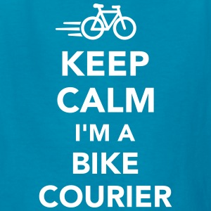 Keep calm I'm a bike courier Kids' Shirts - Kids' T-Shirt