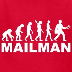 Evolution mailman Kids' Shirts