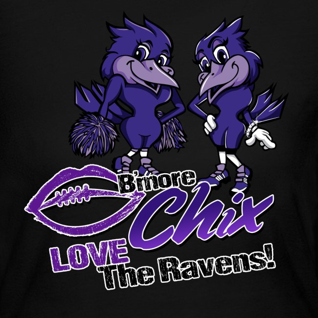 Chix Love Ravens Long Sleeve