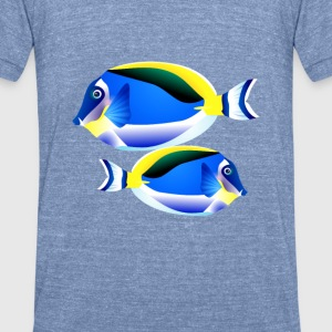 seaworld-tropical3 T-Shirts - Unisex Tri-Blend T-Shirt by American Apparel