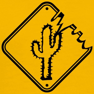caution sign warning danger desert thirst cactus T-Shirts - Men's Premium T-Shirt