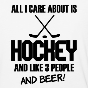 All I Care about is Hockey and Beer funny shirt - Baseball T-Shirt