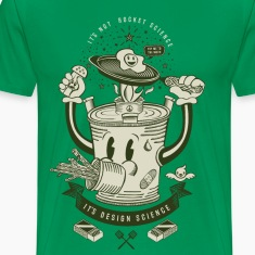 Mr Rocket Stove (green) T-Shirts