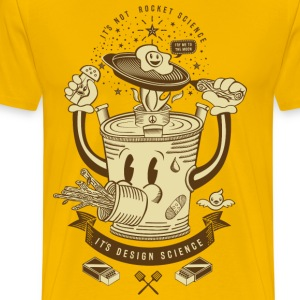 Mr Rocket Stove (sepia) - Men's Premium T-Shirt