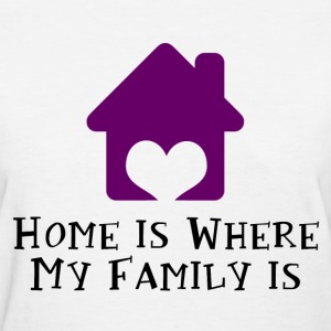 Home's Where My Family Is Women's T-Shirts - Women's T-Shirt