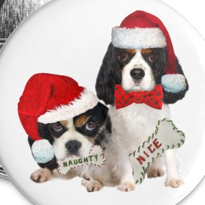 King Charles Naughty or Nice  Buttons - Large Buttons