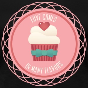 Love Cupcake Comes In Many Flavors - Women's Premium T-Shirt