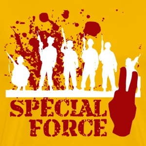 SPECIAL FORCE TWO (WHITE/RED) - Men's Premium T-Shirt