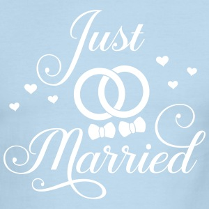 Just Married Gay Bi Pan Trans Queer LGBT Pride T-Shirts - Men's Ringer T-Shirt