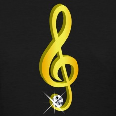 Gold icon musical treble clef