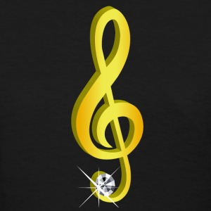Gold icon musical treble clef - Women's T-Shirt