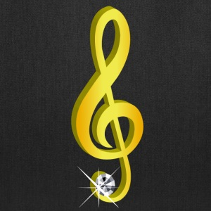Gold icon musical treble clef - Tote Bag