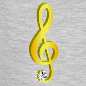 Gold icon musical treble clef - Baby Contrast One Piece