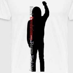 Black Revolutionary Theatre Workshop T-Shirt [whit - Men's Premium T-Shirt