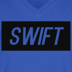 Mens Blue - T-Shirt : Swift Logo