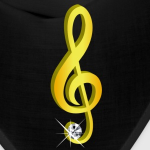Gold icon musical treble clef - Bandana