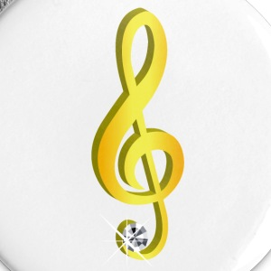 Gold icon musical treble clef - Large Buttons
