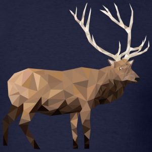 Low-Poly Elk - Men's T-Shirt