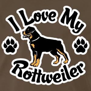 I Love My Rottweiler T-Shirts - Men's Premium T-Shirt