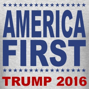 America-First-Trump-2016-3 - Men's T-Shirt