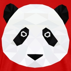 Low Poly Panda Head T-Shirts