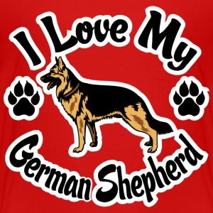 I Love My German Shepherd Baby & Toddler Shirts - Toddler Premium T-Shirt