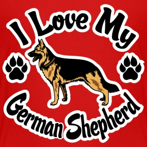 I Love My German Shepherd Kids' Shirts - Kids' Premium T-Shirt