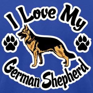 I Love My German Shepherd T-Shirts - Men's T-Shirt by American Apparel