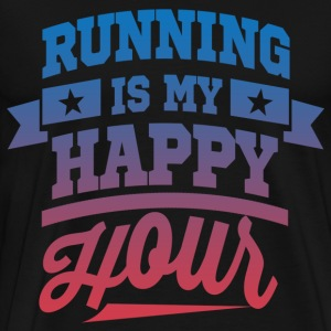 Running Is My Happy Hour T-Shirts - Men's Premium T-Shirt