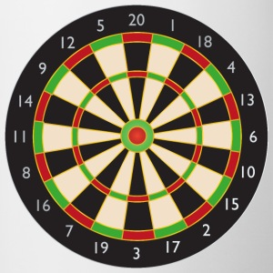 Dart board - Contrast Coffee Mug