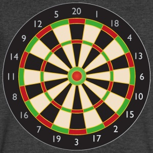 Dart board - Men's V-Neck T-Shirt by Canvas